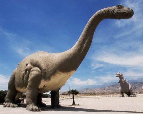Dinosaurs in Desert