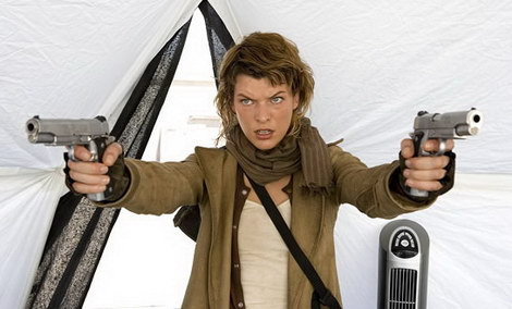 milla jovovich with guns