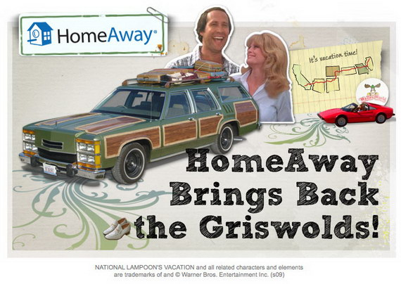 HomeAway ads with Griswolds